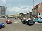 Olda a 1979 Cadillac Eldorado na startu slalomu