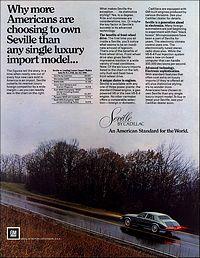 1984 Cadillac Seville - Reklama