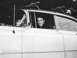 Elvis v autě